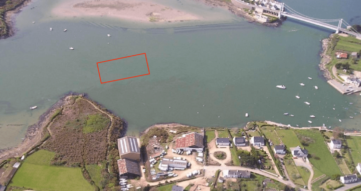 Site d'implantation de la P400 en Ria d'Etel